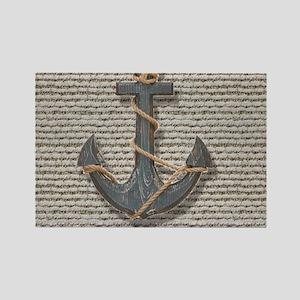 shabby chic anchor burlap Magnets