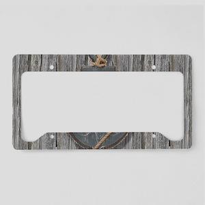 nautical anchor barn wood License Plate Holder