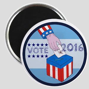 Vote 2016 Hand Ballot Box Circle Etching Magnets