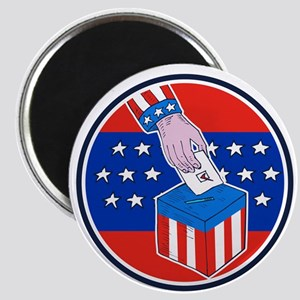 Hand Ballot Box Circle Etching Magnets