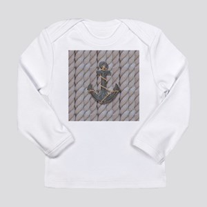 rustic anchor nautical rope Long Sleeve T-Shirt