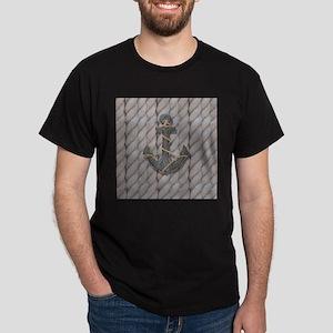 rustic anchor nautical rope T-Shirt