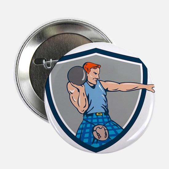 "Highland Games Stone Put Throw Crest Retro 2.25"" B"