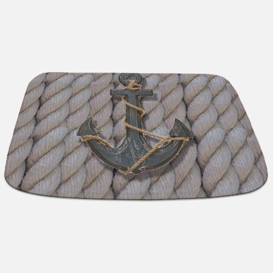 rustic anchor nautical rope Bathmat