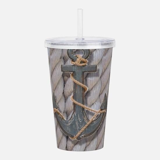 rustic anchor nautical Acrylic Double-wall Tumbler