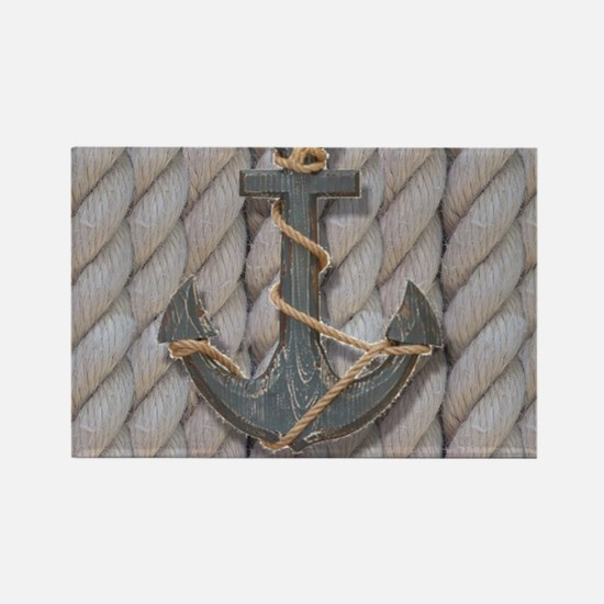 rustic anchor nautical rope Magnets