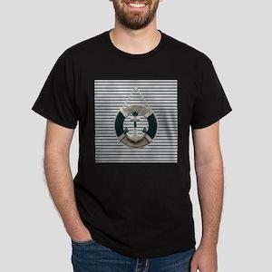 teal grey stripes life saver T-Shirt