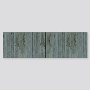 nautical teal beach drift wood Bumper Sticker