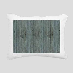 nautical teal beach drif Rectangular Canvas Pillow