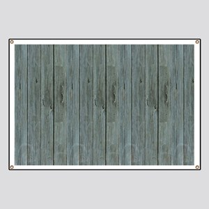 nautical teal beach drift wood Banner