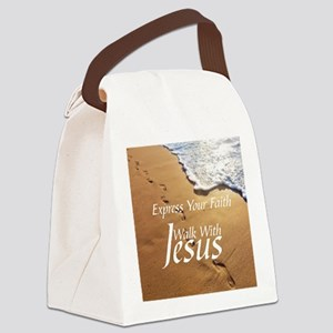 EXPRESS YOUR FAITH WALK WITH JESU Canvas Lunch Bag