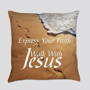 EXPRESS YOUR FAITH WALK WITH JESUS Everyday Pillow