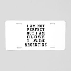 Argentine or Argentinean De Aluminum License Plate