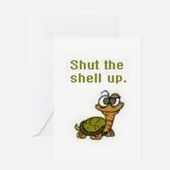 Cool Turtle Greeting Card