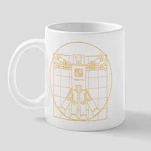 Vitruvian robot Mug