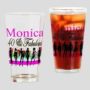 CUSTOM 40TH Drinking Glass