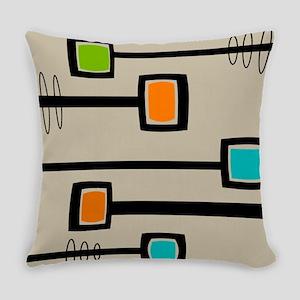 Mid-Century Abstract Art Everyday Pillow