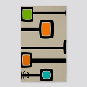 Mid-Century Abstract Art Area Rug