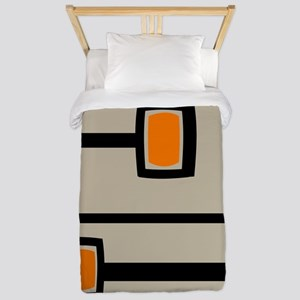 Mid-Century Abstract Art Twin Duvet
