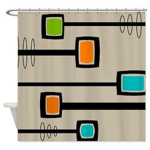 Retro Shower Curtains