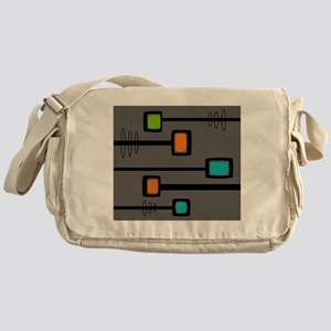 Mid-Century Abstract Art Messenger Bag