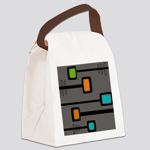 Mid-Century Abstract Art Canvas Lunch Bag