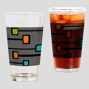 Mid-Century Abstract Art Drinking Glass