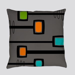 Mid-Century Abstract Art Everyday Pillow