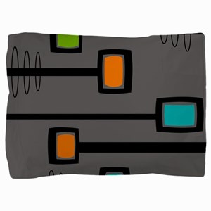 Mid-Century Abstract Art Pillow Sham