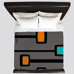 Mid-Century Abstract Art King Duvet