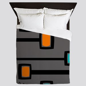 Mid-Century Abstract Art Queen Duvet