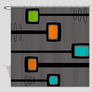 Mid-Century Abstract Art Shower Curtain