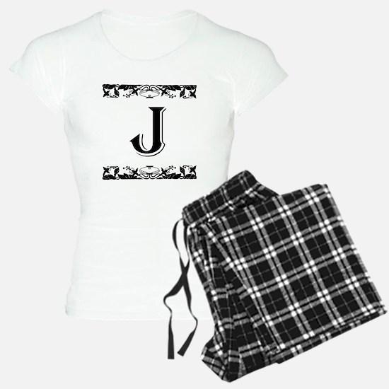 Roman Style Letter J Pajamas