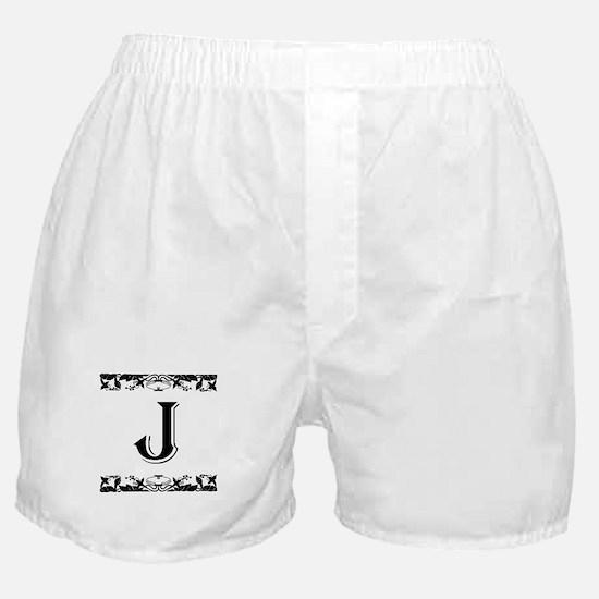 Roman Style Letter J Boxer Shorts