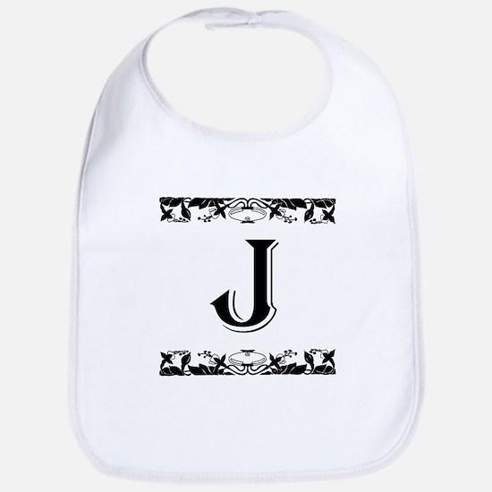 Roman Style Letter J Bib