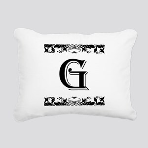 Roman Style Letter G Rectangular Canvas Pillow