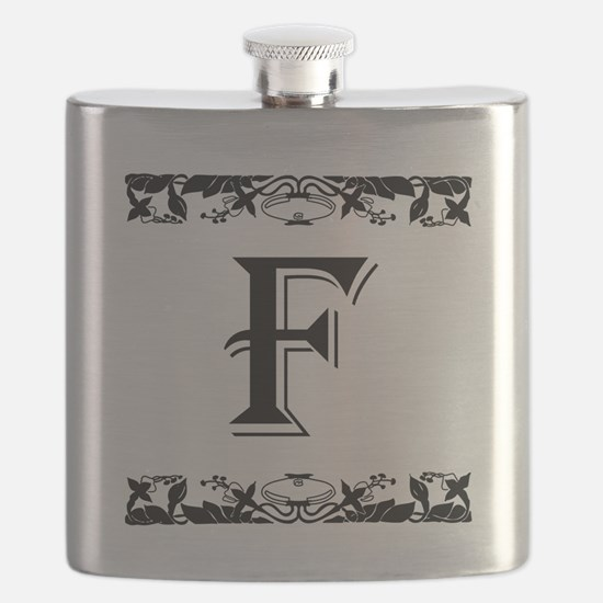 Roman Style Letter F Flask