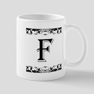 Roman Style Letter F Mugs