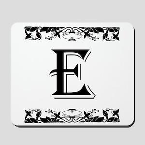 Roman Style Letter E Mousepad