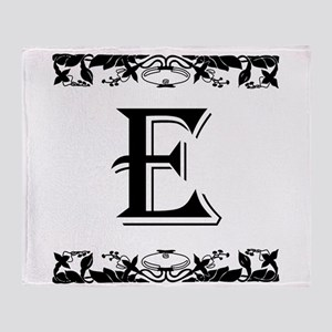 Roman Style Letter E Throw Blanket