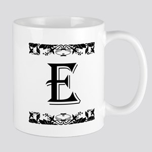 Roman Style Letter E Mugs