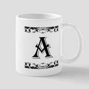 Roman Style Letter A Mugs
