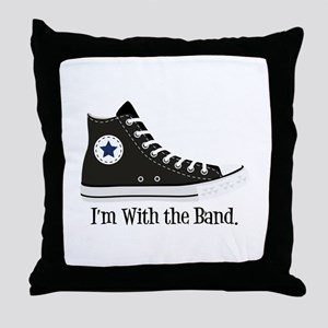 With The Band Throw Pillow