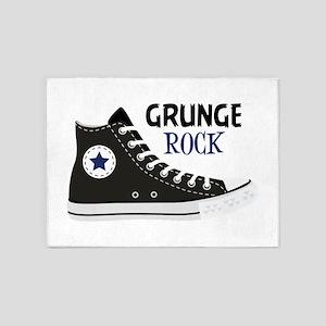 Grunge Rock 5'x7'Area Rug