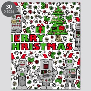 Merry Christmas Robots Puzzle