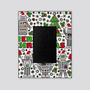 Merry Christmas Robots Picture Frame