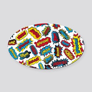 Super Words! Oval Car Magnet