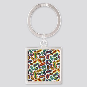 Super Words! Square Keychain
