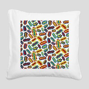 Super Words! Square Canvas Pillow