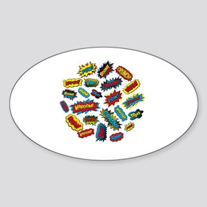 Super Words! Sticker (Oval)